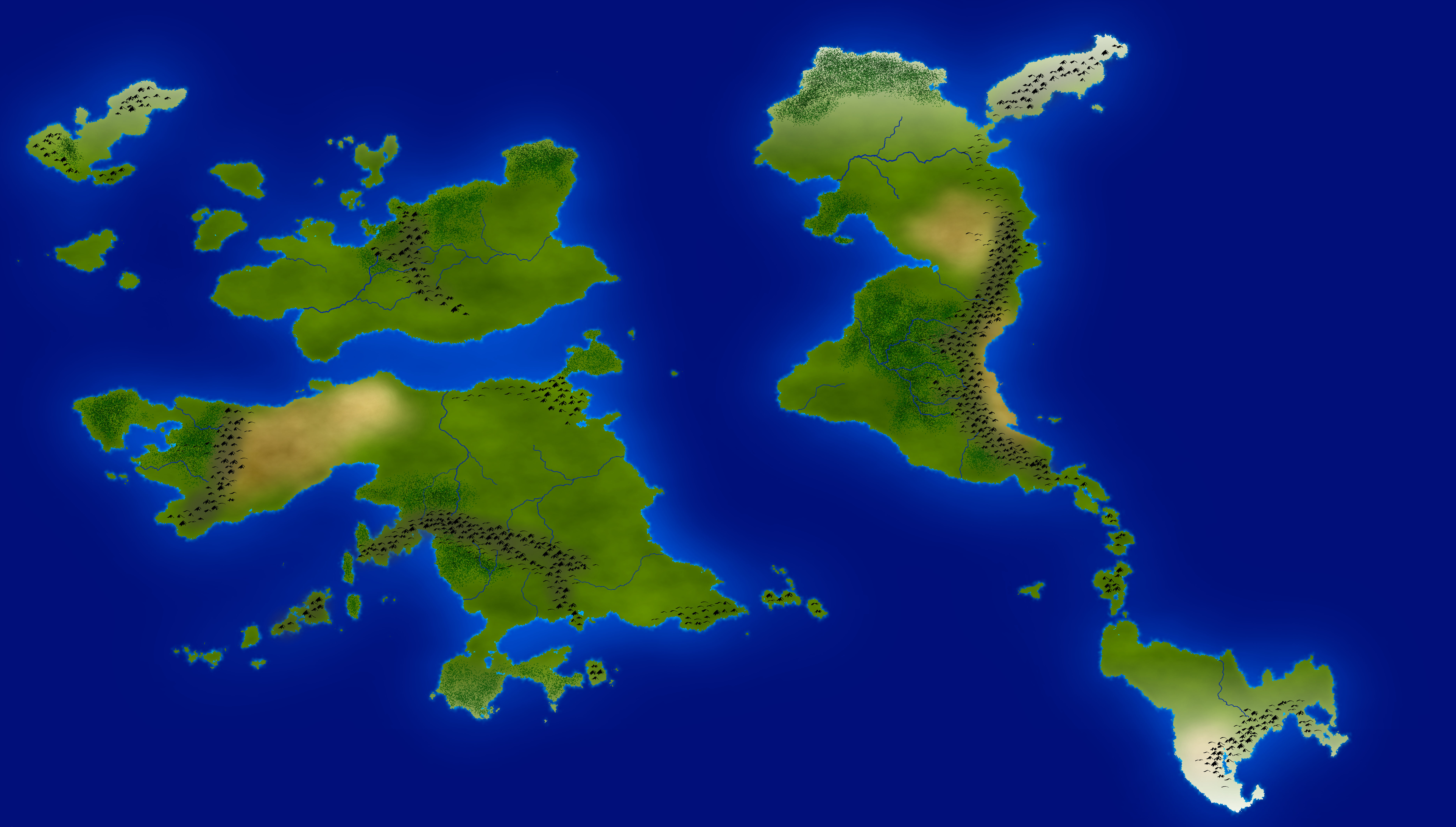 Worldbuilding in gimp ryan anderson im pretty happy with this map and im eager to start adding cities and countries and figuring out how the geography that ive created here influences the gumiabroncs Images