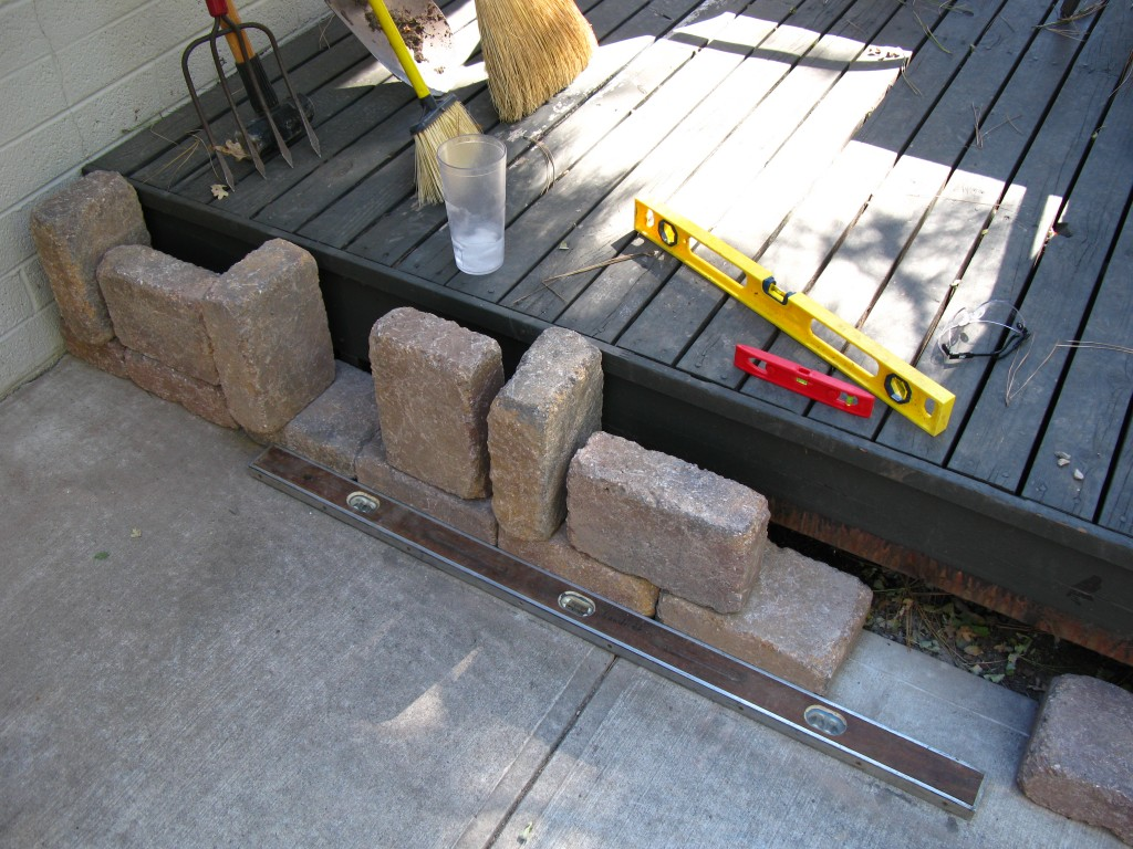 How To Build A Paver Patio On A Cement Slab Step 2